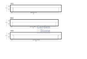Profielen deurdorpels hs1 hs3 hs5 garden stone natuursteen